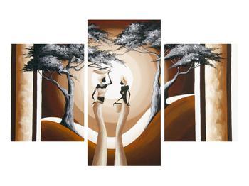 Orientální obraz dvou žen a stromu  (K014682K90603PCS)