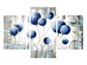 Abstraktní obraz - modré balónky (K014707K90603PCS)