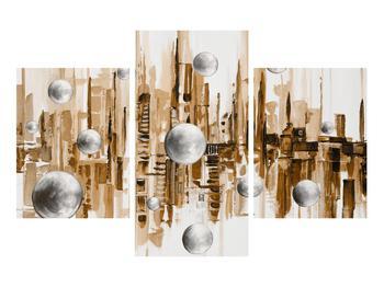 Abstraktní obraz - město (K014743K90603PCS)