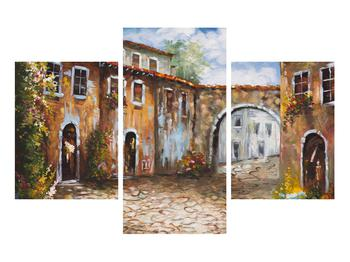 Obraz malované středomořské uličky (K014855K90603PCS)