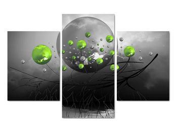 Obraz zelených abstraktných gulí (V020103V90603PCS)