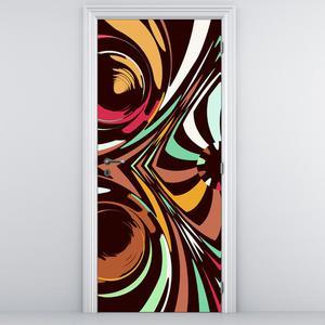 Fototapeta na dveře - abstraktní tvary (D010984D95205)