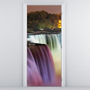 Foto tapeta na vratih - lepi slapovi (D011351D95205)