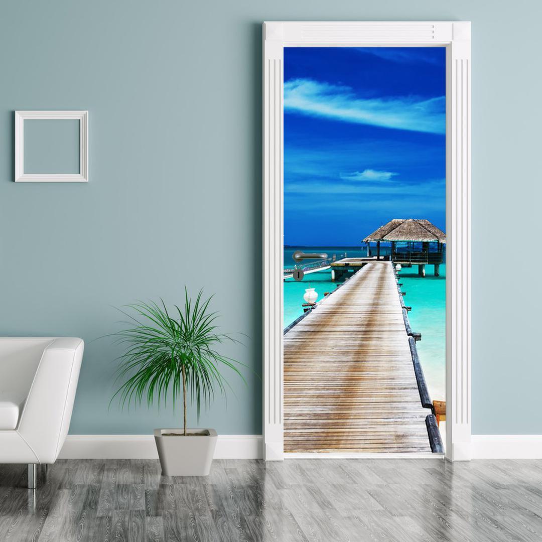 Fototapeta na dveře - molo do moře (D011386D95205)