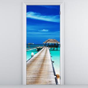 Fotótapéta ajtóra - tengeri móló (D011386D95205)