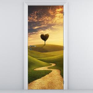 Foto tapeta na vratih - potka med travniki (D011388D95205)