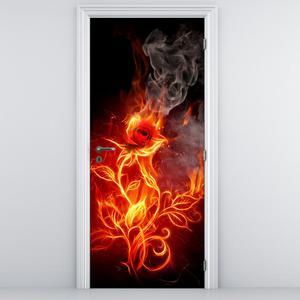 Fototapeta na dveře - hořící růže (D011399D95205)