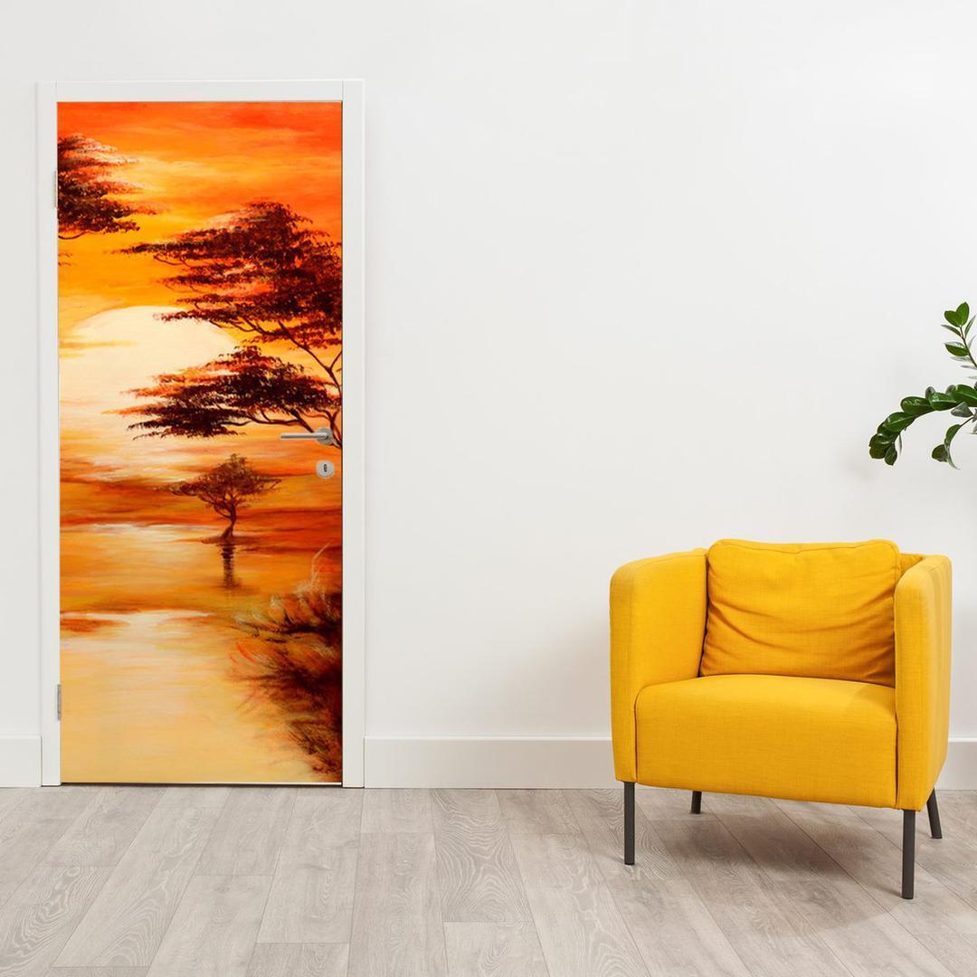 Foto tapeta za vrata - narančasti krajolik (D011504D95205)