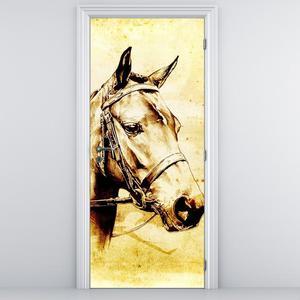 Fototapeta pentru ușă - cap de cal (D011901D95205)