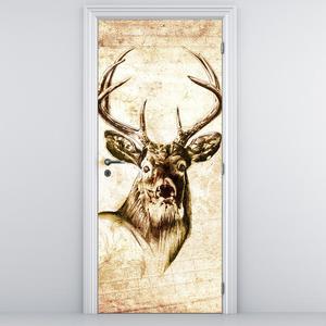 Fototapeta na dveře - velký jelen (D011934D95205)