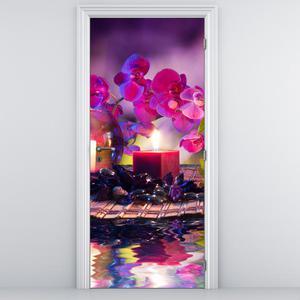 Fotótapéta ajtóra - stílusos kompozíció (D011981D95205)