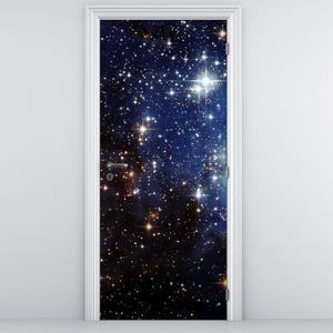 Fototapeta pentru ușă - cerul plin de stele (D012177D95205)
