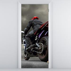 Fototapeta pentru ușă - motociclistul (D012190D95205)