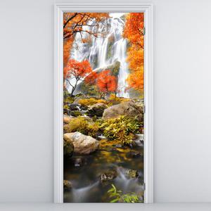 Fototapeta na dvere - Vodopád v jeseni (D012335D95205)