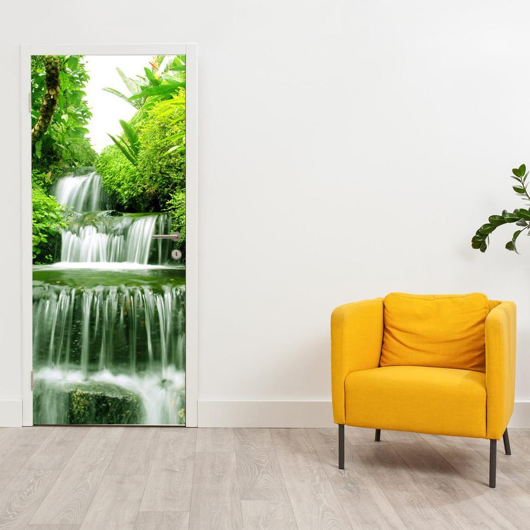 Fototapeta na dveře - Vodopád v pralese (D012353D95205)