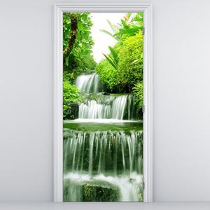 Fotótapéta ajtóra - Vízesés az esőerdőben (D012353D95205)