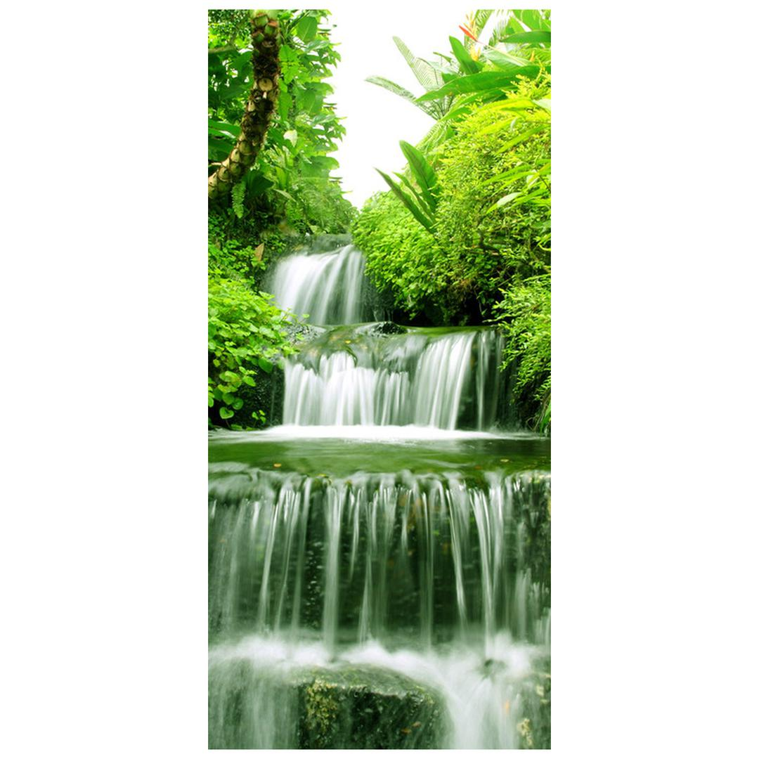 Fototapeta na dvere - Vodopád v pralese (D012353D95205)