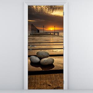 Foto tapeta na vratih - Sončni zahod (D012414D95205)