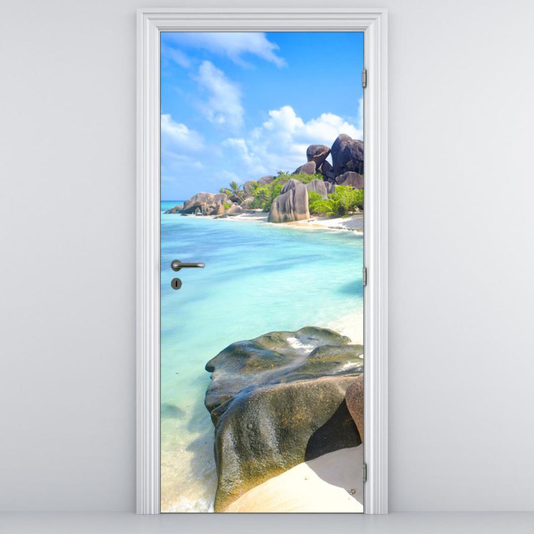 Foto tapeta za vrata - La Digue, Sejšeli (D012419D95205)