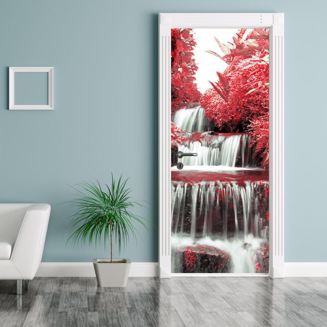 Fototapeta na dveře - Keř s vodopádem (D012539D95205)