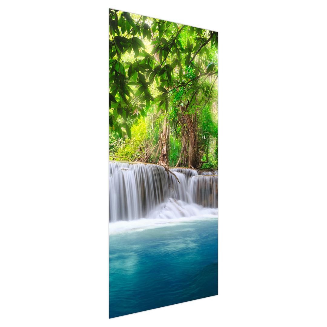 Fotótapéta ajtóra - Vízesés és a kék vízszintje (D012549D95205)
