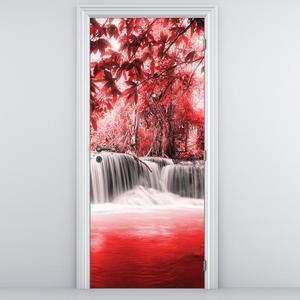 Foto tapeta na vratih - Rdeč slap (D012552D95205)