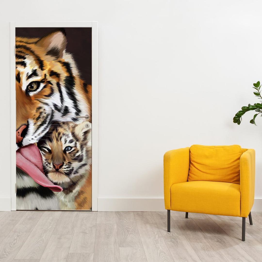 Foto tapeta za vrata - Tigar (D012565D95205)