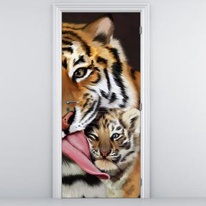 Fotótapéta ajtóra - Tigris (D012565D95205)