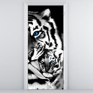 Fotótapéta ajtóra - Tigrisek (D012574D95205)