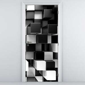 Fototapeta na dvere - Čierne a biele kocky (D012821D95205)