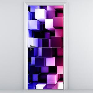 Fototapeta na dvere - Dúhové kocky (D013256D95205)