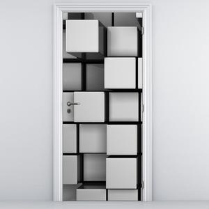 Fotótapéta ajtóra - Kockák (D013309D95205)