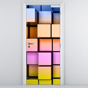 Fototapeta na dveře - Barevné kostky (D013311D95205)