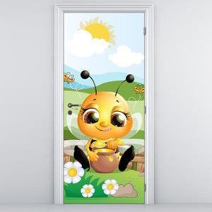 Fotótapéta ajtóra - Méhecske (D013319D95205)