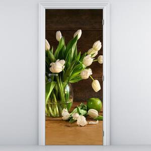 Fototapeta na dveře - Tulipány ve váze (D013345D95205)