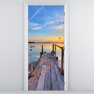Fotótapéta ajtóra - Tengeri móló (D013375D95205)