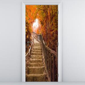 Foto tapeta za vrata - Stepenice u prirodi (D013386D95205)