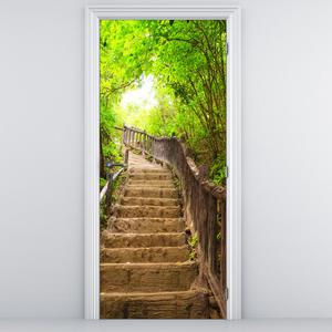 Fotótapéta ajtóra - Csodálatos lépcső a természetben (D013397D95205)