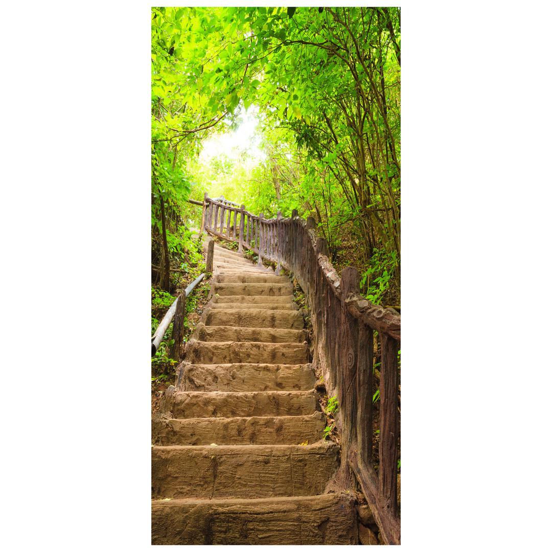 Foto tapeta za vrata - Lijepe stepenice u prirodi (D013397D95205)