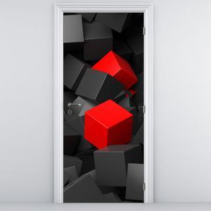 Foto tapeta za vrata - Dvije crvene kocke (D013704D95205)