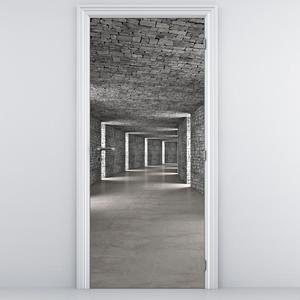 Foto tapeta za vrata - Kameni prolaz (D013712D95205)