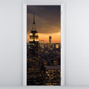 Fototapeta pentru ușă - New York în apus de soare (D014443D95205)