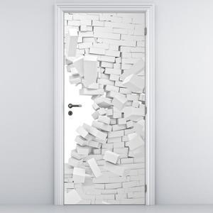 Foto tapeta za vrata - Zid od cigli (D014712D95205)
