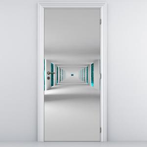 Fototapeta na dvere - Tunel  s tyrkysovým nebom (D014726D95205)