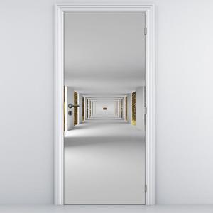 Fototapeta na dveře - Tunel se zlatým nebem (D014771D95205)