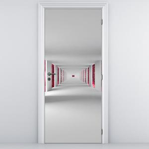 Fototapeta na dveře - Tunel s červeným nebem (D014780D95205)