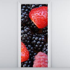 Fototapeta na dveře - Jahody a ostružiny (D014782D95205)