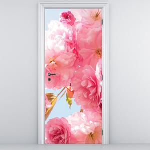 Fototapeta na dveře - Růžové květy (D014789D95205)