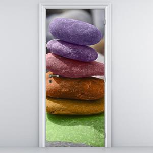 Fototapeta na dveře - Barevné oblázky (D014790D95205)