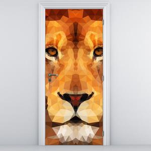 Fototapeta na dveře - Hlava lva (D014795D95205)